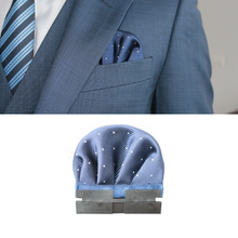 Load image into Gallery viewer, Perfect Square co blue perfect puff with perfect base in a blue 3 piece suit