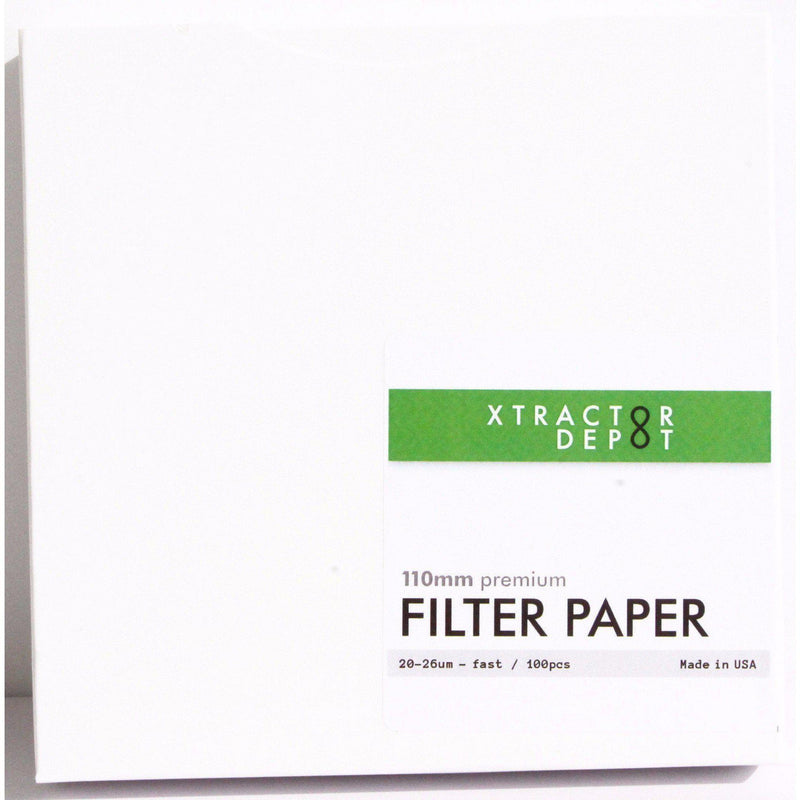 110mm Qualitative Filter Papers - Xtractor Depot