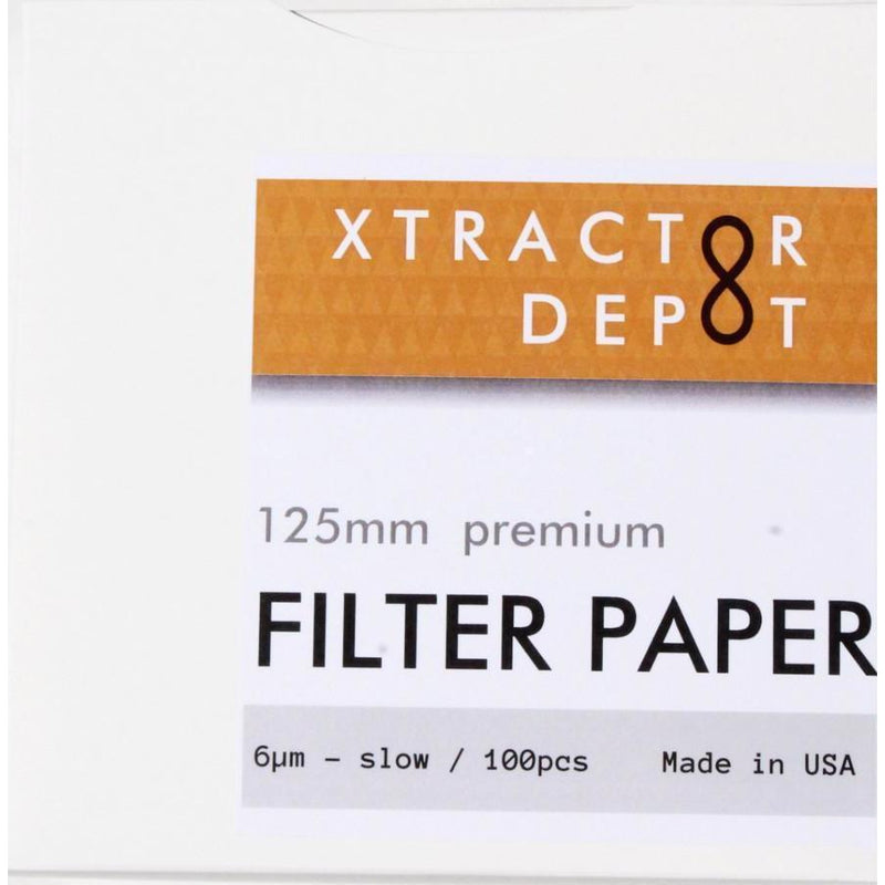 125mm Qualitative Filter Papers - Xtractor Depot