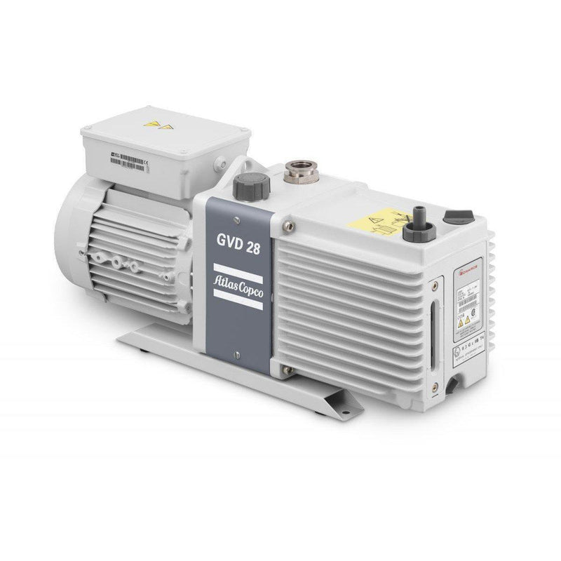 Two Stage, Electrical, 1.2 HP, Oil-Sealed Rotary Vane Vacuum Pump, 208-230v w/ Cord Atlas Copco - Xtractor Depot