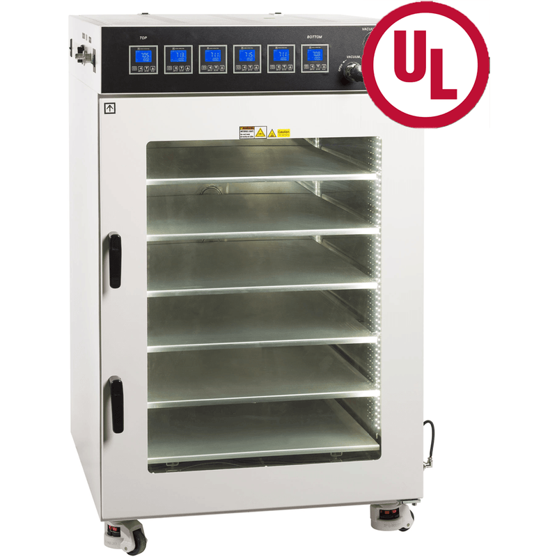 UL/CSA-Listed-16 CF Vacuum Oven w/ 6 Heated Shelves, St. St. Tubing & Valves - Xtractor Depot