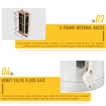 "Load image into Gallery viewer, 2 Frame Manual Honey Extractor Beekeeping Honeycomb Drum 29"" - Kaiezen"