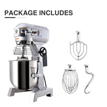 Load image into Gallery viewer, 600W 15Qt Commercial Dough Food Mixer Bakery Gear Driven 3 Speed Pizza Bakery - Kaiezen