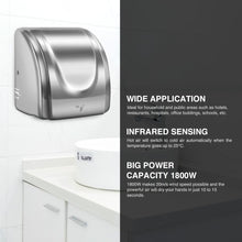 Load image into Gallery viewer, 1800W Stainless Steel Auto Hand Dryer Commercial and Household Use - Kaiezen