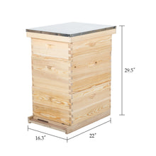 Load image into Gallery viewer, 30-Frame, 3 Tier Langstroth Beehive for Beekeeping - Kaiezen