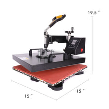 "Load image into Gallery viewer, 15"" X 15"" 360 Degree Swivel Heat Press Machine, 8 in 1 - Kaiezen"