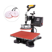 "Load image into Gallery viewer, 15"" X 15"" 360 Degree Swivel Heat Press Machine, 5 in 1 - Kaiezen"