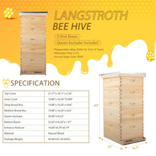 Load image into Gallery viewer, 10-Frame, 5 Tier Langstroth Beehive for Beekeeping - Kaiezen