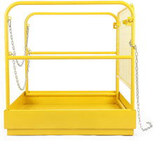 "Load image into Gallery viewer, Heavy Duty Forklift Safety Cage Steel Work Platform 749 lb. Capacity, 34""x34"" - Kaiezen"