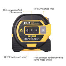 Load image into Gallery viewer, 3-in-1 Laser Tape Measure, Laser Level, Tape Measure, Distance Measuring 131 Ft - Kaiezen