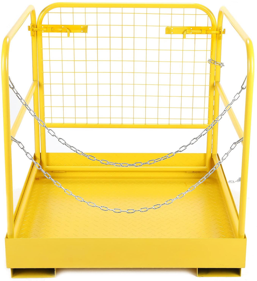 Heavy Duty Forklift Safety Cage Steel Work Platform 749 lb. Capacity, 34