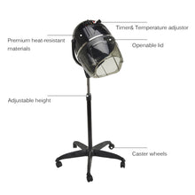 Load image into Gallery viewer, Stand Up Hair Dryer Swivel Hood Caster for Salon Beauty Professional with Timer - Kaiezen