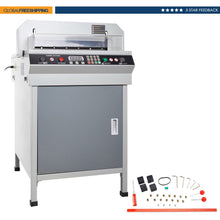 "Load image into Gallery viewer, 17.7"" Electric Paper Trimmer Cutter Machine 450mm Guillotine Cutting Machine - Kaiezen"