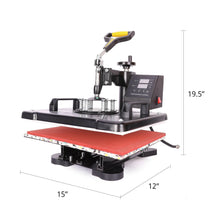 Load image into Gallery viewer, 12 x 15 Inch Heat Press Machine for Professional Commercial DIY - Kaiezen