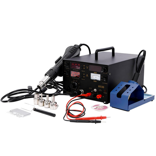 3 in 1 SMD Soldering Iron & Hot Air Rework Station with LED Display - Kaiezen