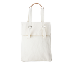 Qwstion Flap Tote Medium (natural white)