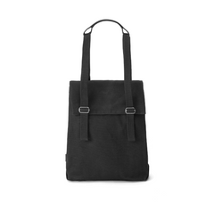 Qwstion Flap Tote Small (all black)