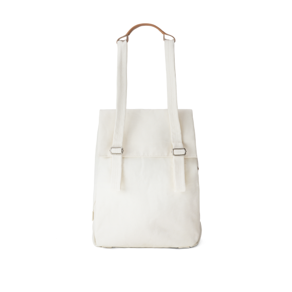 Qwstion Flap Tote Small (natural white)