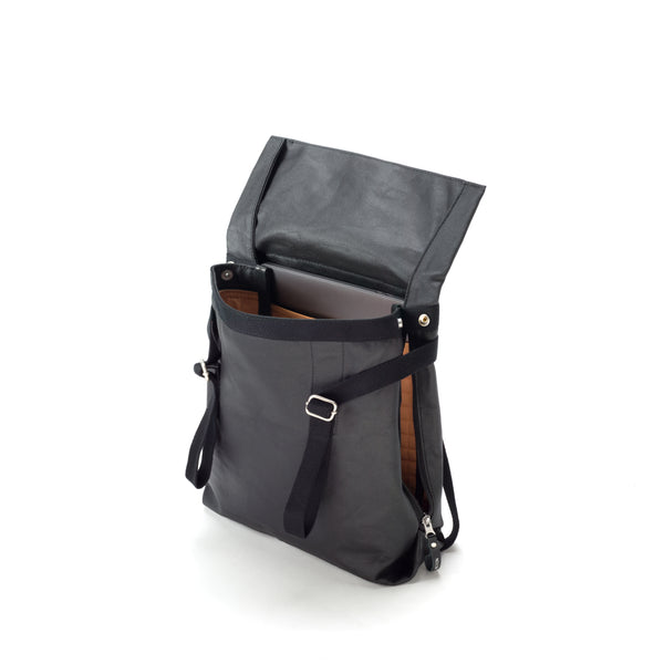 Qwstion Small Tote (organic jet black)