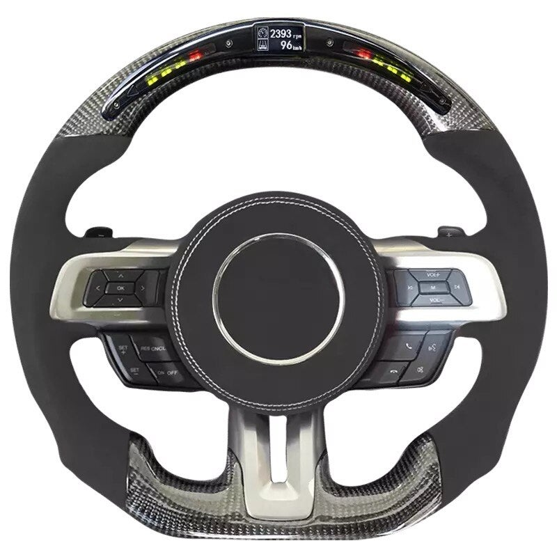 Mustang Carbon Leather Steering Wheel