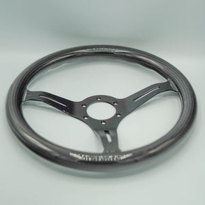 Brushed Black Carbon Steering Wheel
