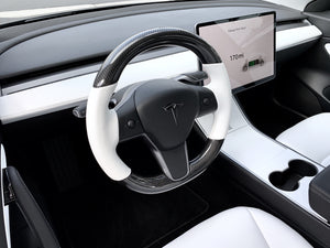 Tesla Model 3 Carbon Leather Steering Wheel