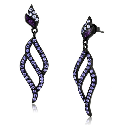 Crystal Tanzanite Stainless Steel Earrings