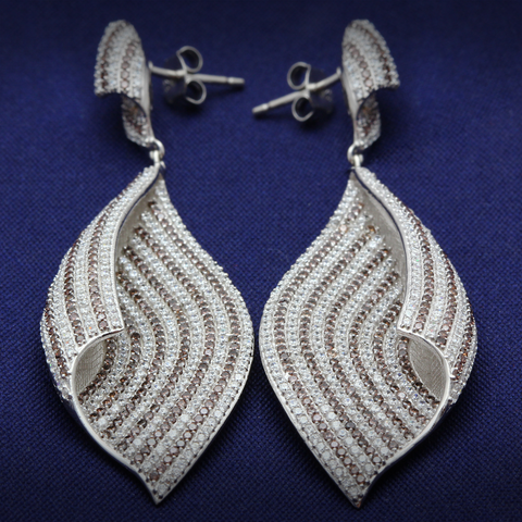 Dark Ocean Sand Earrings