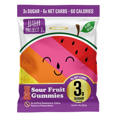 Low Sugar Sour Fruit Gummies