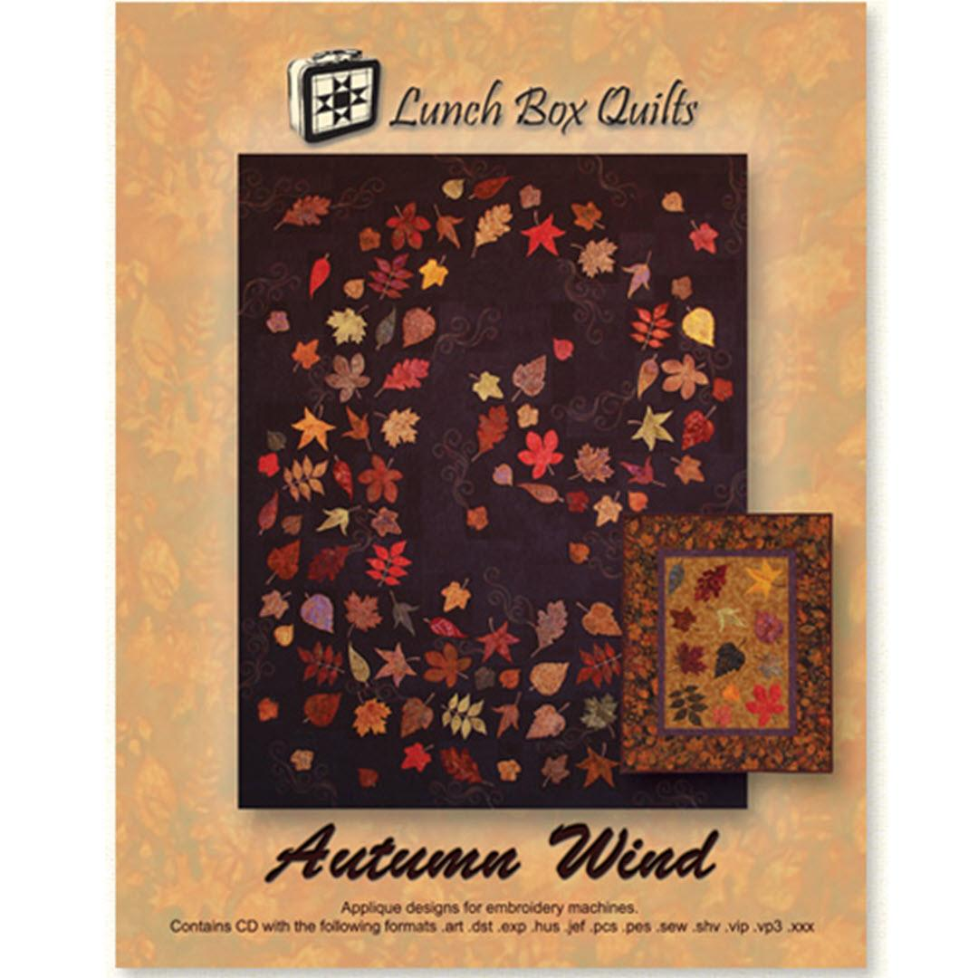 Autumn Wind Emb CD Lunch Box Quilts