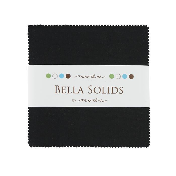 Bella Solids Charm Pack, Black