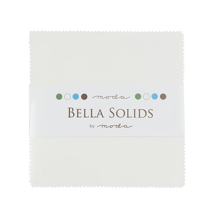 Bella Solids Charm Pack, White