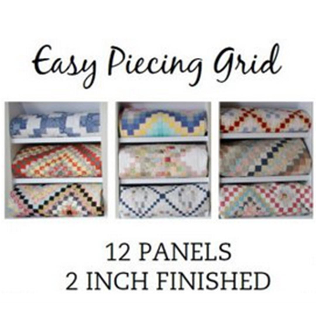 "Easy Piecing Grid 2"" Pre-Cut, 12 panels"