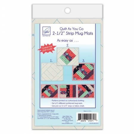"Quilt As You Go Mug Mat 2-1/2"" Strips"