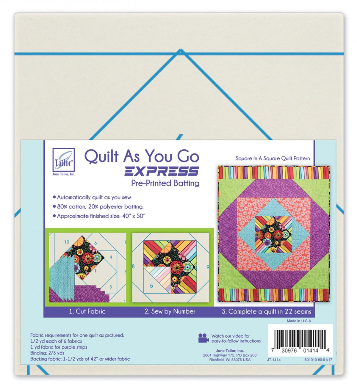 Quilt As You Go Express Kit