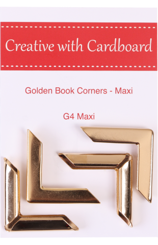 Large Book Corners, Golden (G4-Maxi)