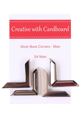 Large Book Corners, Silver (S4-Maxi)