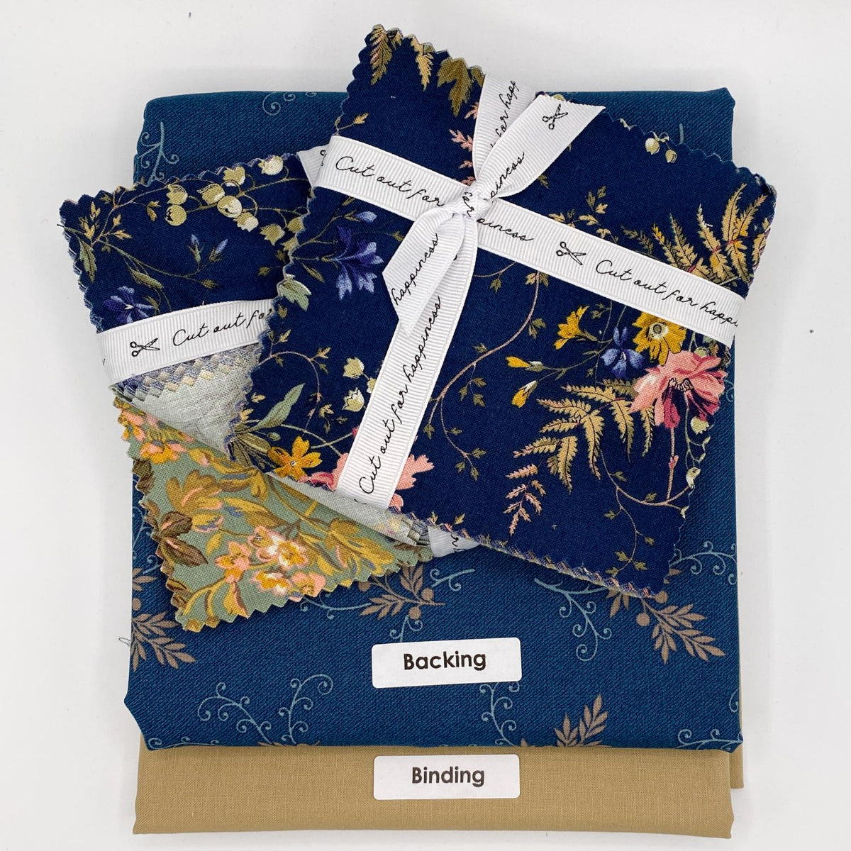 Mini Brick Road Table Runner & Placemat Kit, Navy Floral