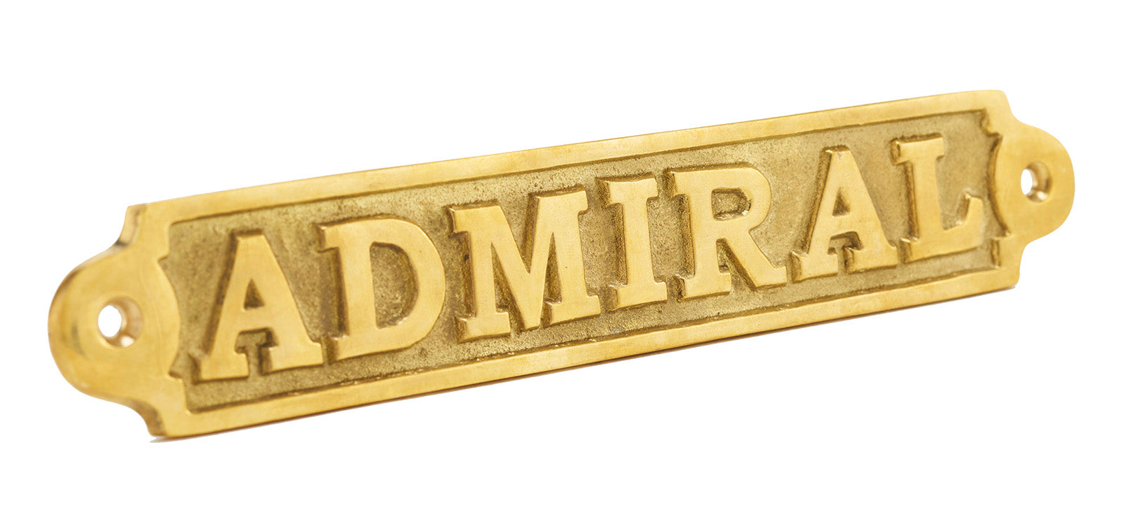 Brass Admiral Plaque