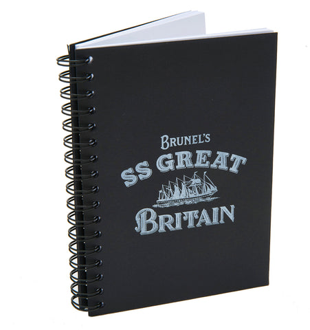 SS Great Britain Black Notebook