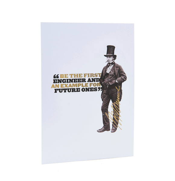 Brunel's Quotes Postcard
