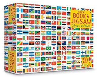 Book and Jigsaw Flags of the World