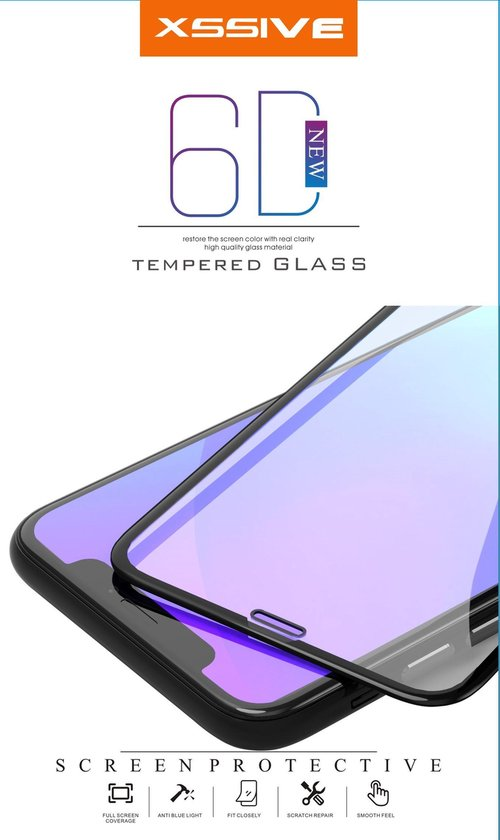 Xssive full cover tempered glass voor apple iphone 7/8/xr/xs/x/iph11/iph11pro/