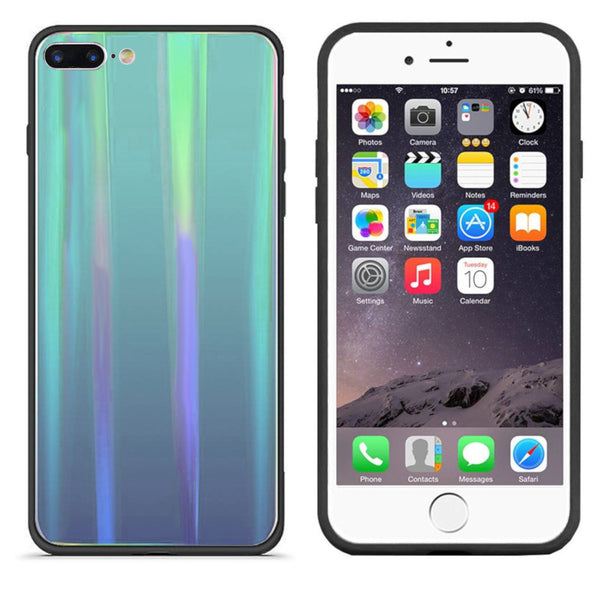 Aurora glass iphone 8/7 blauw