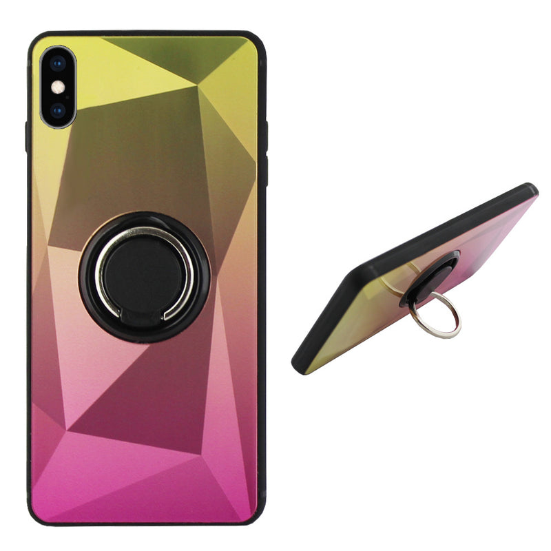 Ring aurora iphone xs max goud+roze