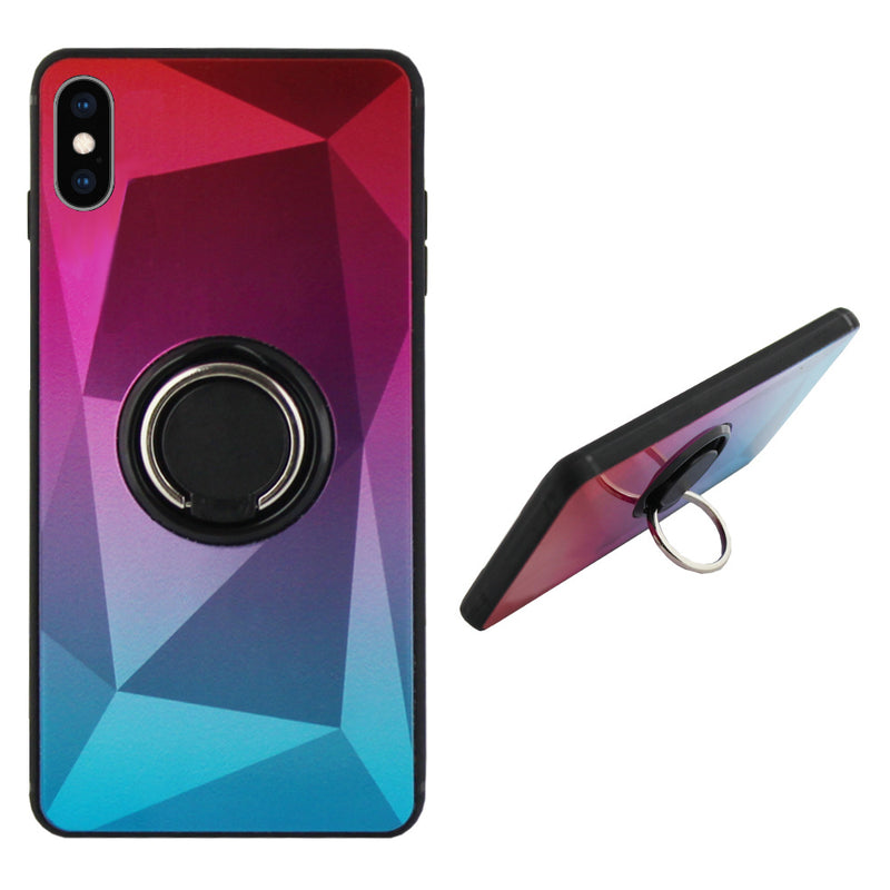 Ring aurora iphone xs roze+blauw