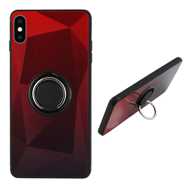 Ring aurora iphone xs rood+zwart