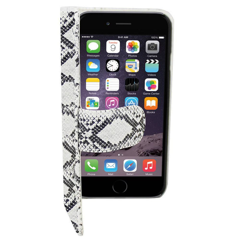 Book pu1 iphone 6 plus serpentijn wit