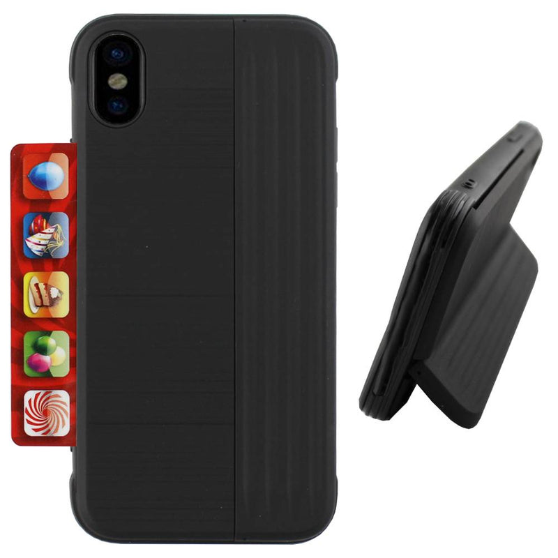 Card stand iphone xs max zwart