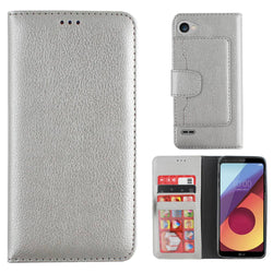 Wallet case q6 zilver